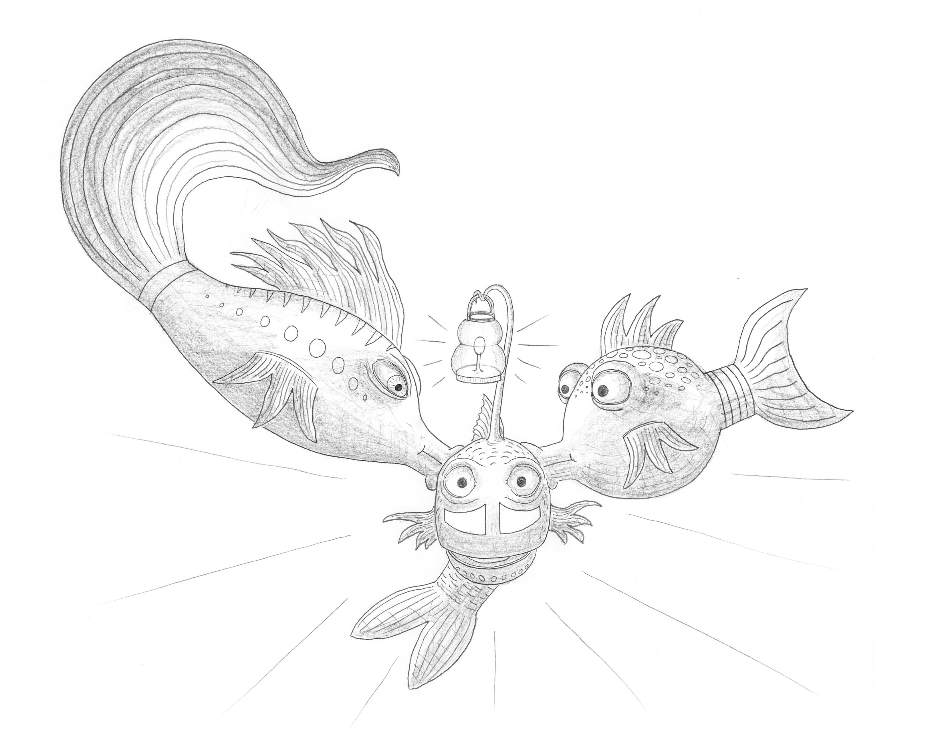 The Pout Pout Fish In The Big Big Dark Quot Images Pout Pout Fish Coloring Pages